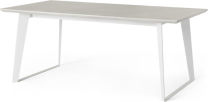 An Image of Boone 6 Seat Dining Table, White Concrete Resin Top