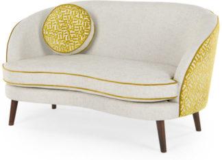 An Image of Gertie 2 Seater Sofa, Dufrene Moss Velvet
