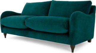 An Image of Sofia 2 Seater Sofa, Plush Mallard Velvet