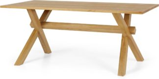An Image of Bayron 8 Seat Dining Table, Brushed Solid Oak