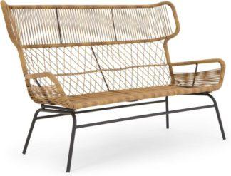 An Image of Lyra Garden 2 Seater Sofa, Charcoal Grey