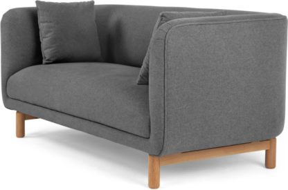 An Image of Becca 2 Seater Sofa, Marl Grey