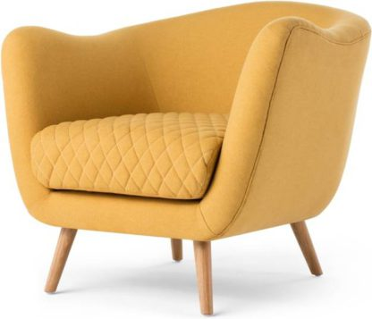 An Image of Flick Accent Armchair, Yolk Yellow