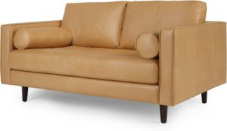 An Image of Scott Large 2 Seater Sofa, Chalk Tan Premium Leather
