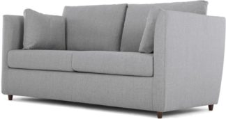 An Image of Milner Sofa Bed with Memory Foam Mattress, Granite Grey