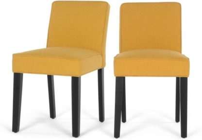 An Image of Set of 2Wilton Dining Chairs,Yolk Yellow and Birch Black