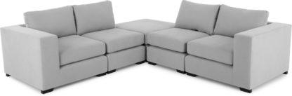 An Image of Mortimer Modular Corner Sofa Group, Chalk Grey Cotton