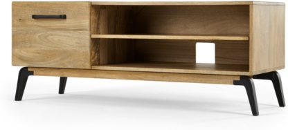 An Image of Lucien TV Stand, Light Mango Wood