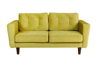 An Image of Luciene 2 seat sofa Genova Olive