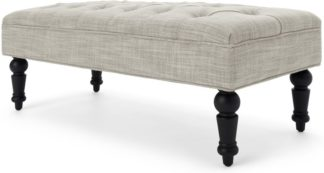 An Image of Bouji Ottoman, Taupe Linen Mix