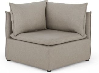 An Image of Victor Modular Sofa Corner Seat, Portland Grey