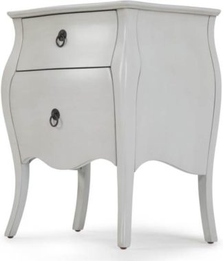 An Image of Bourbon bedside table, brushed grey