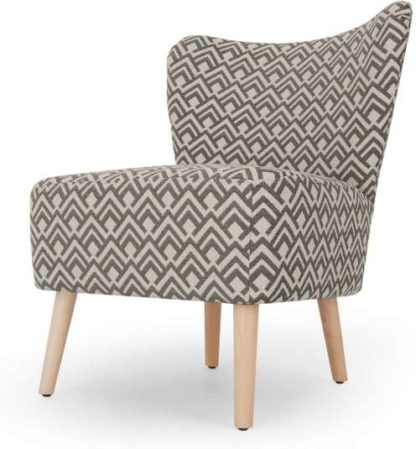 An Image of Charley Accent Armchair, Sky Geo Weave