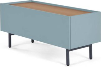 An Image of MADE Essentials Mino Media Unit, Oak and Blue