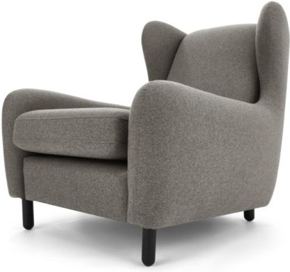 An Image of Rubens Wingback Armchair, Nickel Grey