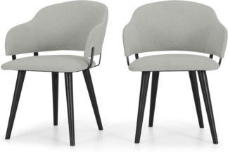 An Image of Set of 2 Nielson Carver Dining Chairs, Hail Grey