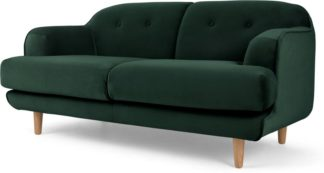 An Image of Gracie 2 Seater Sofa, Pine Green Velvet
