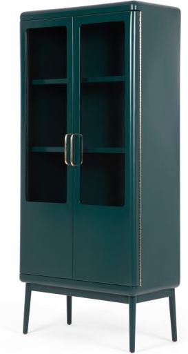 An Image of Cassey Cabinet, Green and Brass