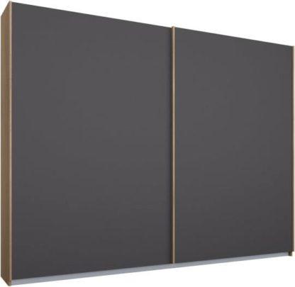 An Image of Malix 2 door 225cm Sliding Wardrobe, Oak frame,Matt Graphite Grey doors , Classic Interior