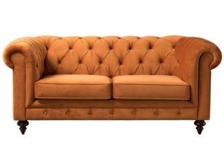 An Image of Monty Two Seat Sofa - Pumpkin
