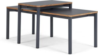 An Image of MADE Essentials Mino Set of 2 Nesting Coffee Table, Grey