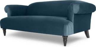 An Image of Claudia 3 Seater Sofa, Velvet Midnight Blue