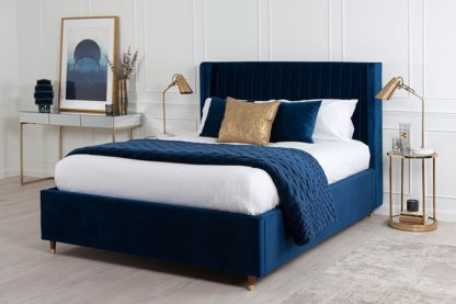 An Image of Baxter Storage Bed Royal Blue