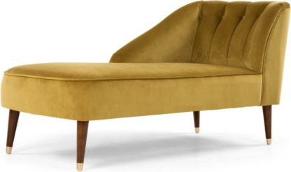 An Image of Margot Left Hand Facing Chaise Longue, Antique Gold Velvet