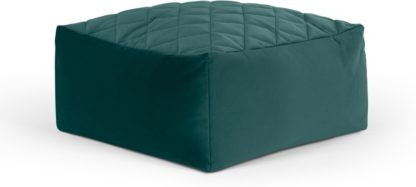 An Image of Loa Quilted Floor Cushion, Seafoam Blue Velvet