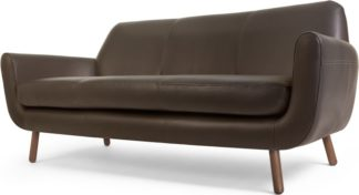 An Image of Jonah 3 Seater Sofa, Ale Brown Premium Leather