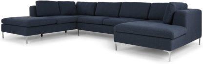 An Image of Monterosso Left Hand Facing Corner Sofa, Storm Blue