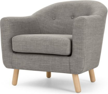 An Image of Lottie Armchair, Chalk Grey