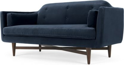 An Image of Imani Large 2 Seater Sofa, Navy Cotton Velvet