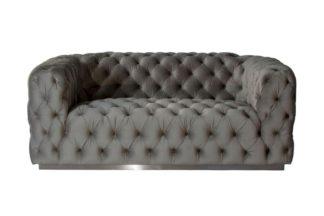 An Image of Frankfurt Two Seat Sofa - Dove Grey