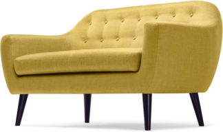An Image of Ritchie 2 Seater Sofa, Ochre Yellow