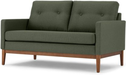 An Image of Edison 2 Seater Sofa, Textured Moss