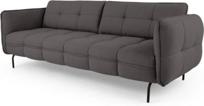 An Image of Maverick 3 Seater Sofa, Rhino Grey