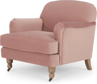An Image of Orson Small Armchair, Vintage Pink Velvet