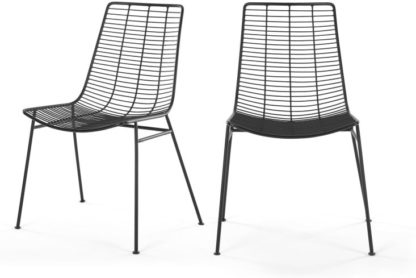 An Image of Set of 2 Marvel Dining Chairs, Black