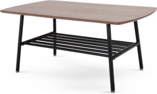 An Image of Haywood Coffee Table, Walnut and Black