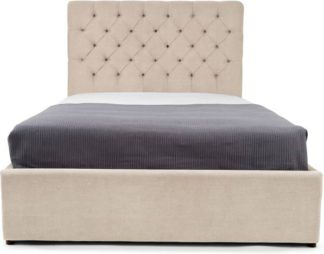 An Image of Skye Kingsize Bed with Storage, Tulip Cream