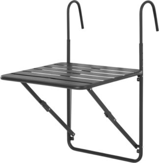 An Image of MADE Essentials Tice Wall Hung Dining Table, Grey