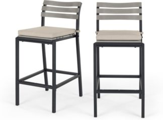 An Image of Set of 2 Catania Garden Bar Stool, Polywood
