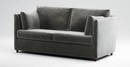 An Image of Custom MADE Milner Sofa Bed with Foam Mattress, Steel Grey Velvet