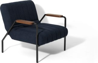 An Image of Rekord Accent Armchair, Blue