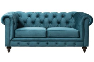 An Image of Monty Two Seat Sofa - Peacock