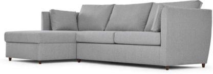 An Image of Milner Left Hand Facing Corner Storage Sofa Bed with Foam Mattress, Granite Grey