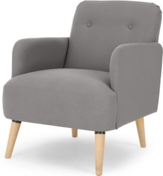 An Image of Elvi Accent Chair, Marshmallow Grey