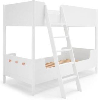 An Image of Hansel Bunk Bed, White and Copper