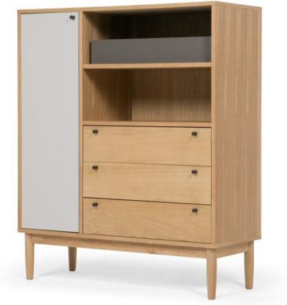 An Image of Campton Highboard, Oak